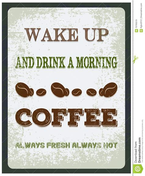 coffee poster wallpaper coffee poster stock illustration image 70795519