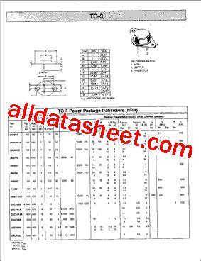 datasheet transistor 2n3055 2n3055 datasheet pdf list of unclassifed manufacturers