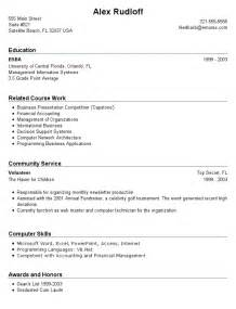 sample resume for college students with no job experience 1 - Examples Of Good Resumes For College Students