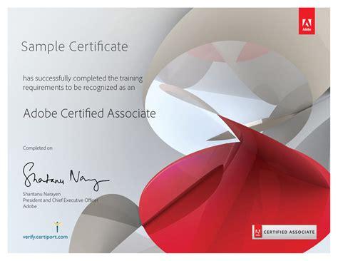 adobe illustrator certificate template prodigy learning academic adobe certified associate