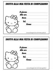 inviti biglietti compleanno da colorare con hello kitty
