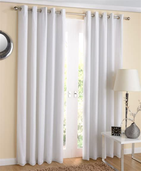 thermal curtains white ready made voile lined thermal blockout eyelet curtain