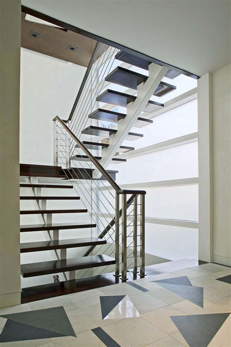 Modern Stairs Design Indoor Fabulous Chrome Handrail With Simplistic Modern Stairs Style As Well As Cable Banister As