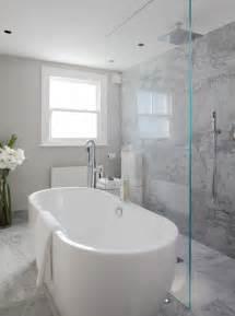 Open Shower Open Shower Ideas Modern Bathroom Laura Hammett