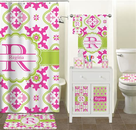 Floral Bathroom Accessories Suzani Floral Bathroom Accessories Set Ceramic Personalized Baby N Toddler