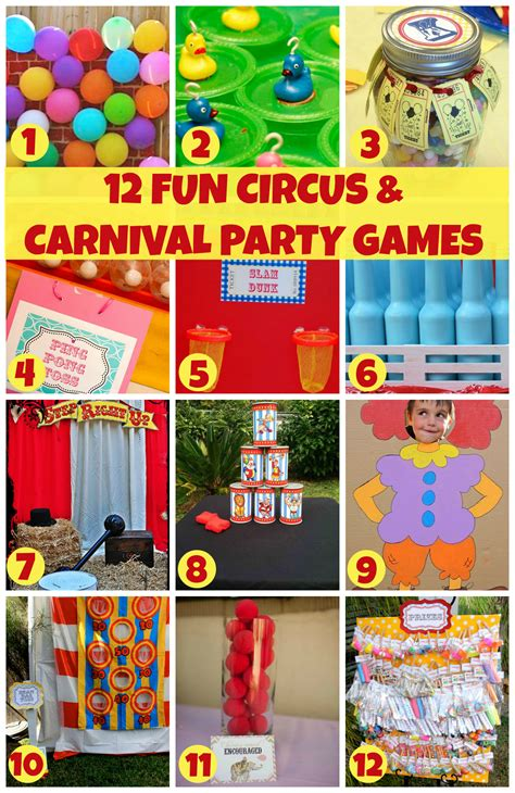 themes for games for a party 12 fun circus carnival party games catch my party