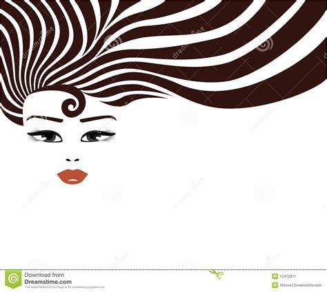 long hair stock photos royalty free images vectors vector woman face with long hair stock illustration