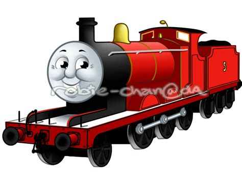 James the red engine by Robie Chan on DeviantArt