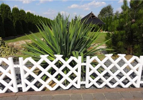 White Plastic Trellis Panels Advantages Of Plastic Garden Fencing For Outdoor Fence Ideas