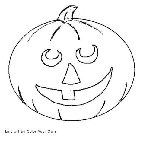 jack o lantern coloring page happy jack o lantern line art