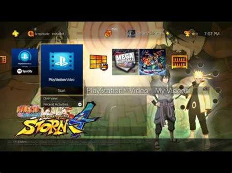 ps3 themes naruto storm 4 naruto shippuden ultimate ninja storm 4 dynamic theme ps4