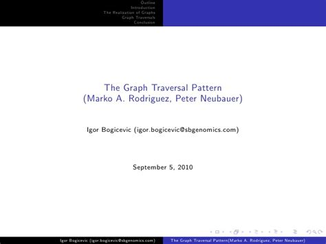 visitor pattern graph traversal the graph traversal pattern