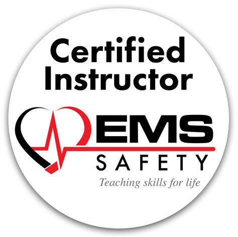 logo instructor certified instructor logo round 2 ems safety services