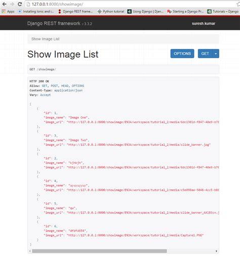 django queryset tutorial python django rest framework api image url not proper