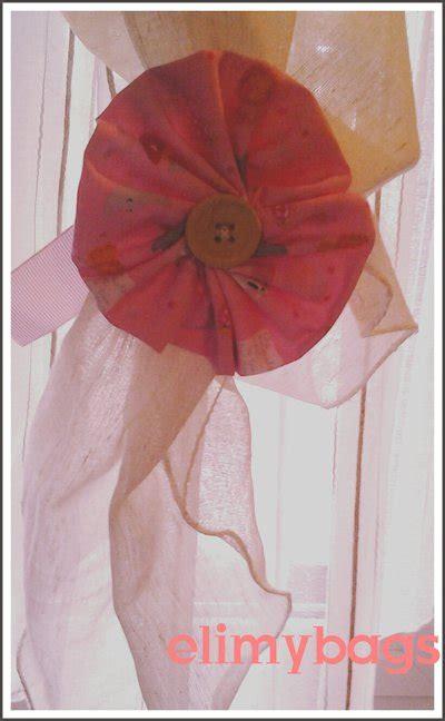 tende bambina coccarda rosa bambina decorazione nascita e chiudi tenda