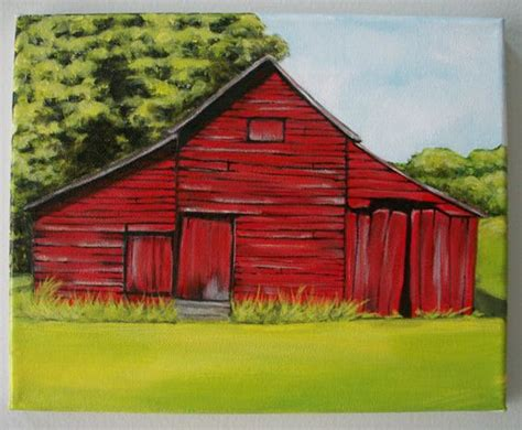 scheune gemalt 8x10 quot barn painting acrylics barns and barn