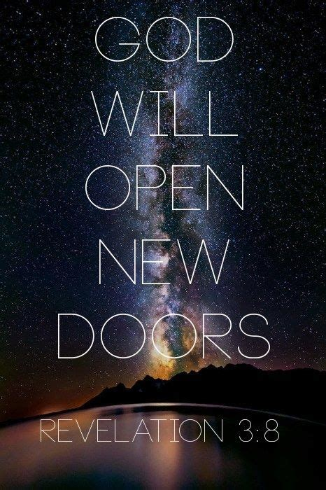 god will open new doors revelation 3 8 the bible