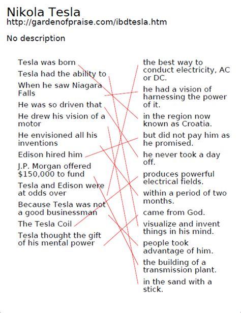Nikola Tesla Timeline Garden Of Praise Nikola Tesla Biography