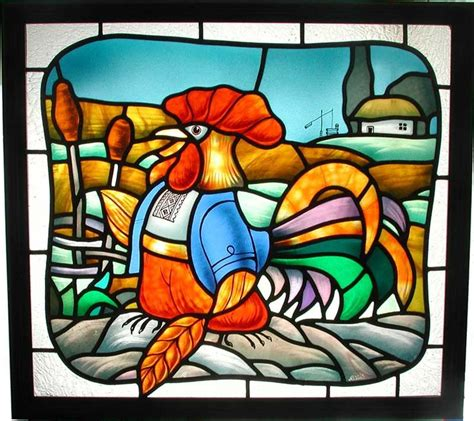 stained glass rooster l 730 beste afbeeldingen over animals birds stained glass