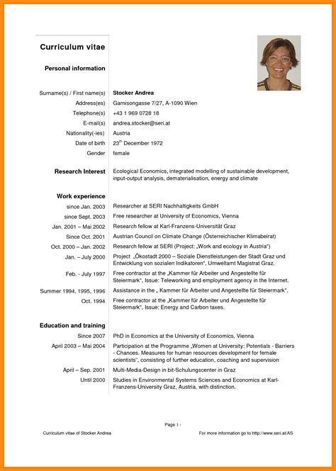 Cv Exemple by 8 Curriculum Vitae Pdf Odr2017
