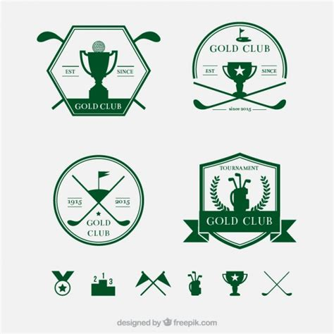 gulf logo vector retro golf badges vector free
