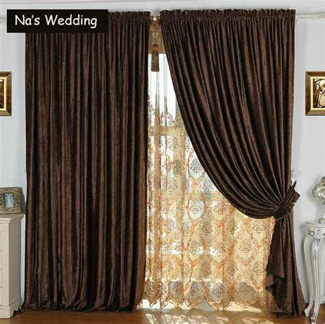 double windows curtains na s double side chenille suede curtains luxury solid