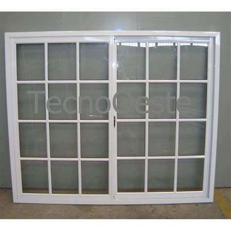 ventana aluminio blanco vidrio repartido 180x150 con vidrio