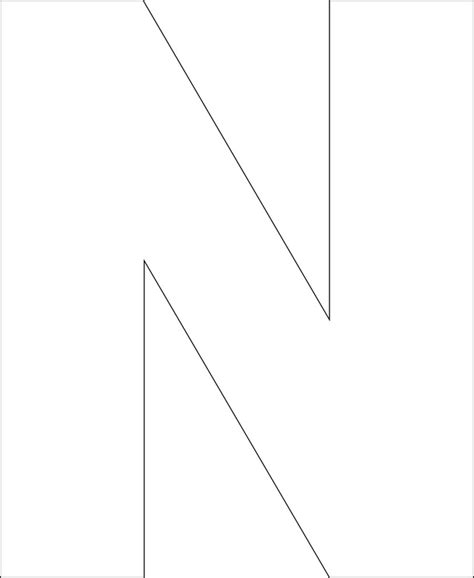 letter templates free printable 6 best images of printable big letter n large letter n