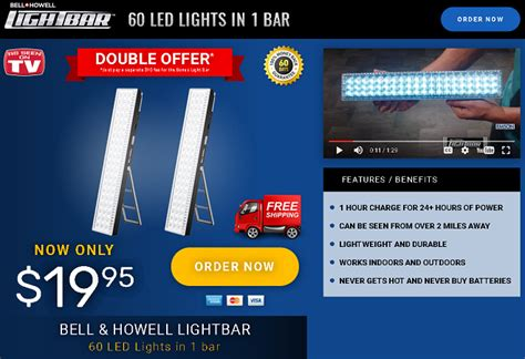 Bell Howell Light Bar Review 60 Led Lights In One Bar