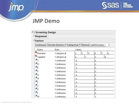 jmp design of experiment guide new design of experiments features in jmp 11