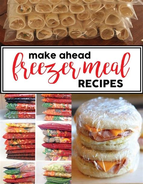 easy make ahead dinner recipes easy recipes and make ahead freezer meals