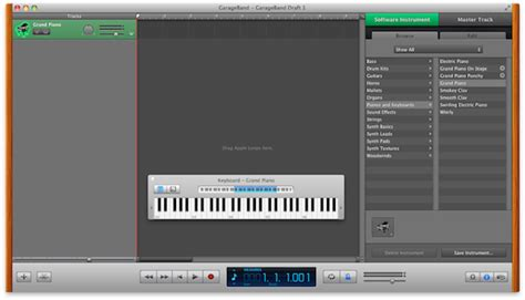 Garageband On Screen Keyboard Garageband Part 1 Getting Started With Instruments