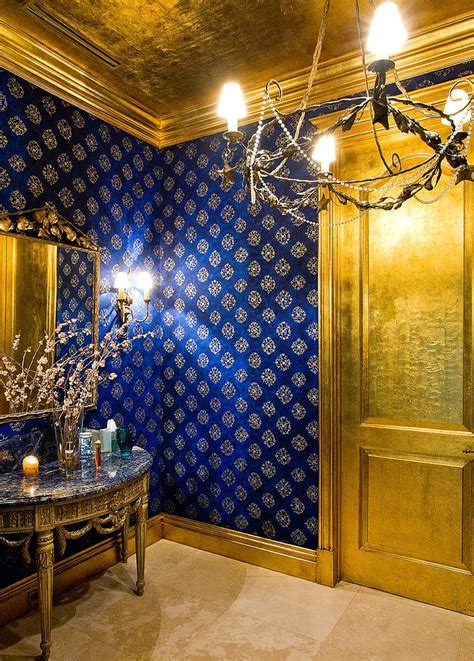 blue and gold bedroom decor how to design a picture perfect powder room