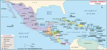 map of central america travel map