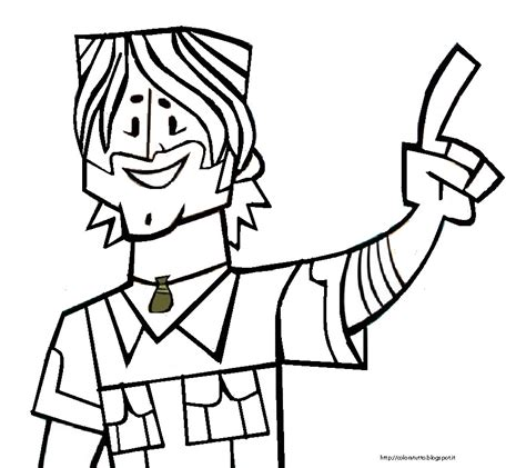 Total Drama Coloring Pages total drama coloring pages az coloring pages