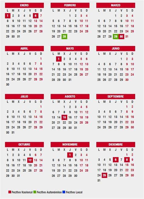 Calendario 2018 Con Feriados Chile Este Es El Calendario Laboral En Andaluc 237 A Para 2018
