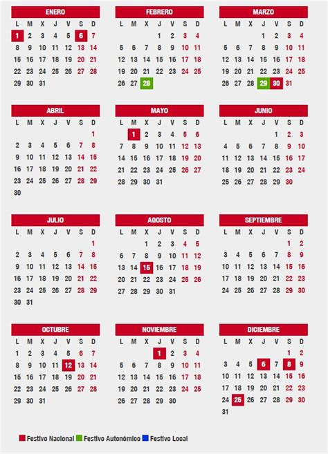 Calendario 2018 Andalucia Este Es El Calendario Laboral En Andaluc 237 A Para 2018