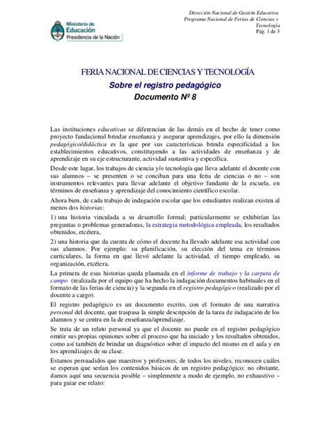 registro pedaggico feria de ciencias modelo doc 08 registro pedag 166 gico