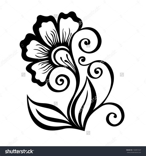 pattern drawing flower 50 new flower vase drawing home idea