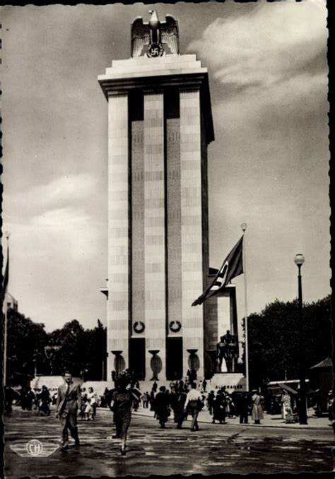 pavillon allemand 1937 carte postale weltausstellung 1937 pavillon de