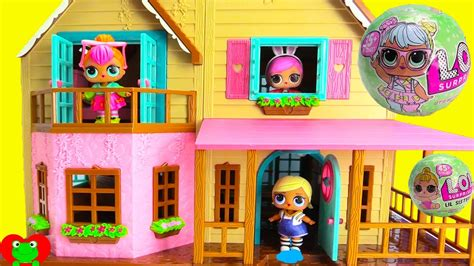 new doll house lol surprise dolls move into new doll house youtube