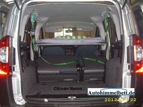 im auto schlafen tipps schlafen im citroen nemo bj seit 2007 bequem im auto