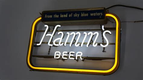 what were beer neon colors in the 50s and 60s version 1950 s hamm s from the land of sky blue 177707