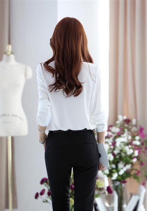 Murah Lu Natal Paling Panjang kemeja putih wanita lengan panjang model terbaru jual murah import kerja