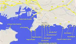 Toulon France Map by Beaches In Toulon Travel And Tourism In Provence