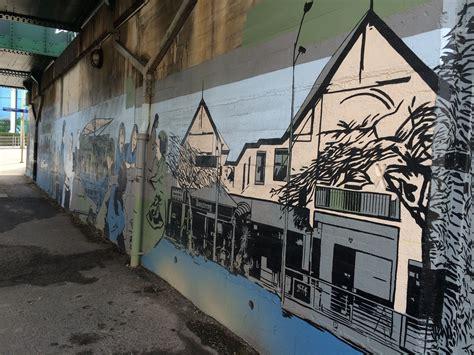 milton train station brisbane street art train station