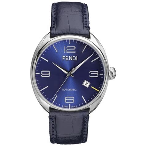 fendi fendimatic automatic leather blue mens f200013031