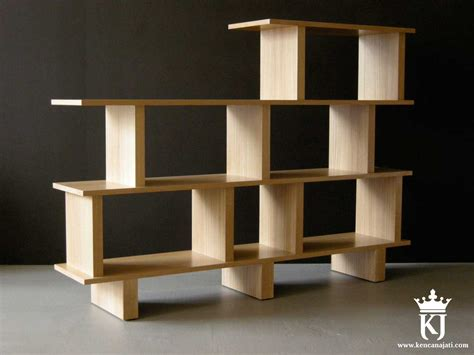 Rak Buku Jati Minimalis jual rak buku minimalis kayu jati kencana jati furniture