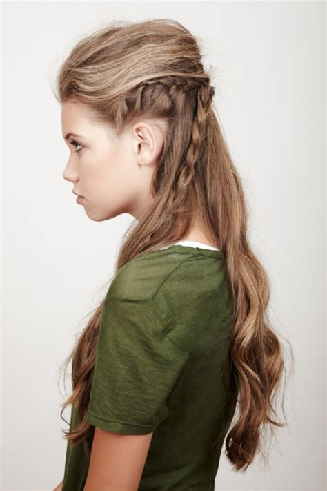 cute girl hairstyles viking braid young elven half up hairstyle braid hairstyles