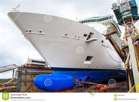 cruise ship dry dock cruise ship drydock editorial stock image image 43924904